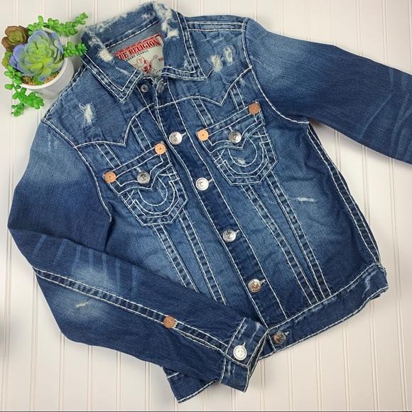 True Religion Jackets & Blazers - 🌵 True Religion Distressed Jimmy Super T Jacket S
